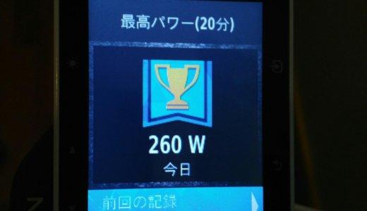 FTP更新 240W/4.28W/kg(20分260W/4.64W/kg)
